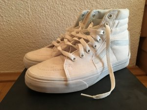 Weiße Canvas High Top Vans