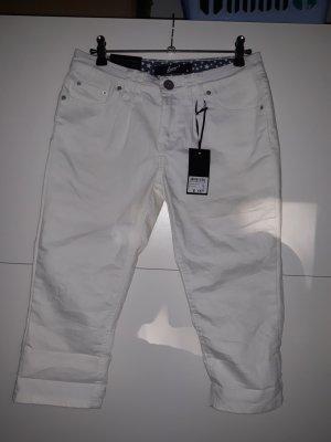 Pantalone Capri bianco-bianco sporco
