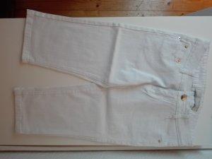 Weiße Caprihose aus Jeans