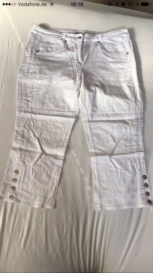 Weiße Caprihose Jeans