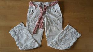 Esprit Pantalón de camuflaje blanco-rosa