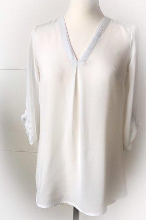 Weiße Chiffonbluse Gr. 36 von H&M
