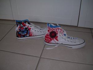 weiße Converse All Star Chucks Superman Gr. 39,5 DC Comics