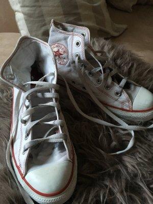 Weiße Converse Chucks Leder Größe 39