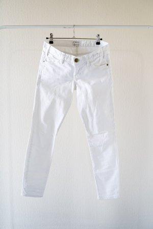 Weiße cool geschnittene Jeans von der Luxusmarke Current/ Elliot.