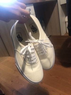 Weiße/Creme Plateau Vans