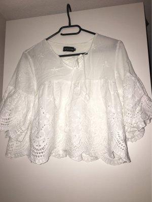 Weiße Crop Bluse
