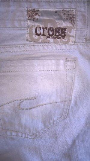 weisse CROSS Jeans gerade geschnitten