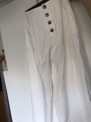 Zara Pantalone culotte bianco