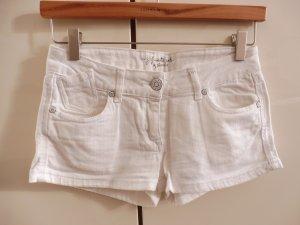 Weiße Damen Shorts aus Baumwollstretch