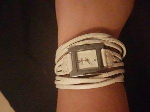Weisse Damenuhr Digitaluhr von Belmore