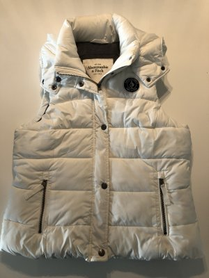 Abercrombie & Fitch Hooded Vest white