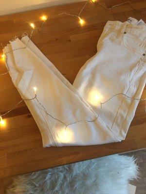 Weiße Denim Jeans