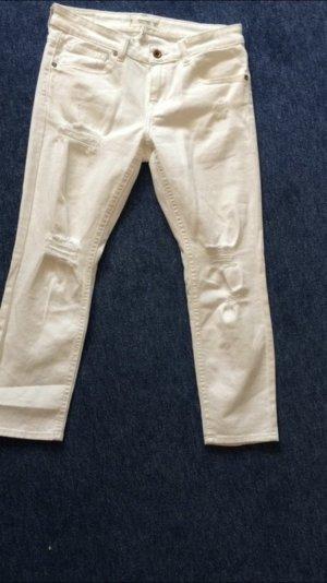 Mango Jeans a 7/8 bianco
