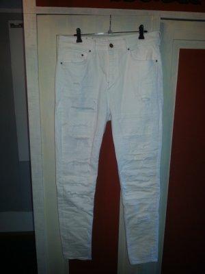 Weiße destroyed Jeans H&M
