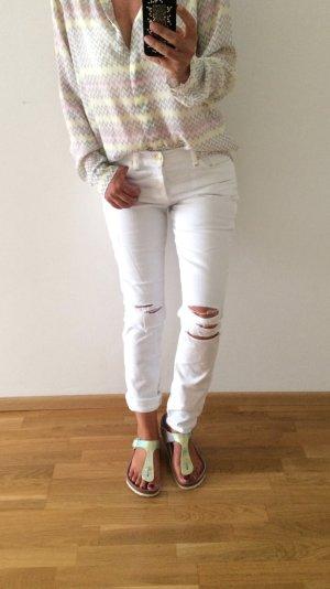 Weiße Destroyed-Jeans von 7 for all Mankind