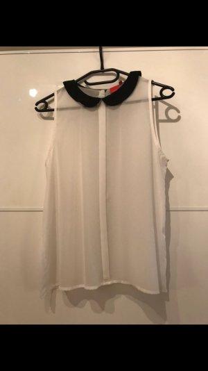 Weiße durchsichtige Bluse
