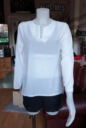 Weiße durchsichtige Vintage Bluse S/M