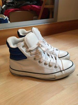 Weiße EchtLeder Chucks Converse