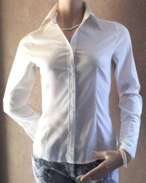 Weiße elegante Bluse, Langarm