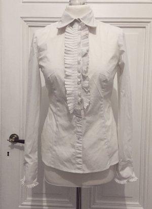 Weiße elegante Bluse mit Rüschen NEU von Esprit