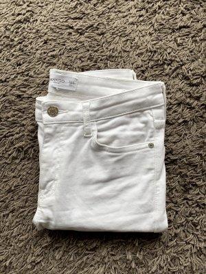 Weiße Elektra Jeans von Mango