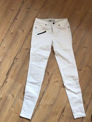 Zara Pantalón de tubo blanco