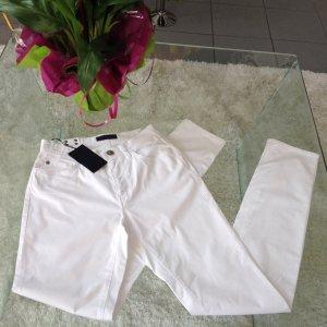 Weiße, enge Jeans von Trussardi