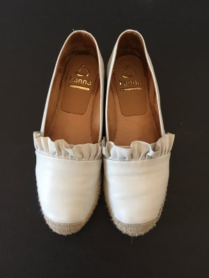 Weiße Espadrilles aus Leder