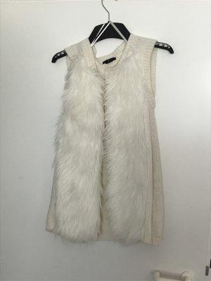 H&M Chaleco de piel blanco