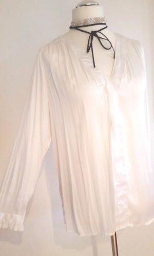 Weiße * festliche * Bluse Gr. 44