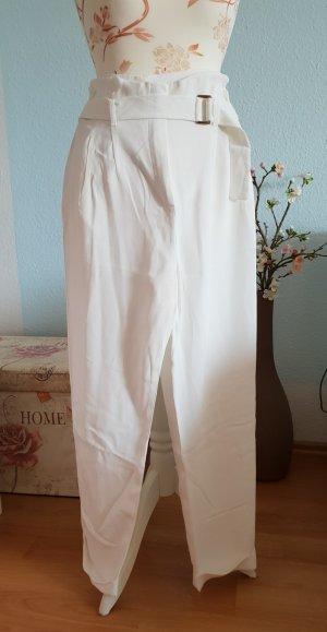 Mango Peg Top Trousers white