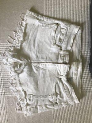 Weiße Fransen Hotpants