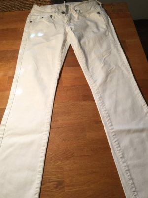 Weiße G-Star RAW Jeans gerade geschnittenes Bein gr. 27/30
