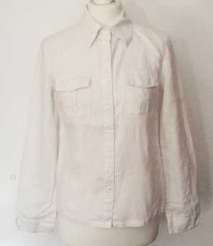 Authentic Blusa de lino blanco-beige claro Lino