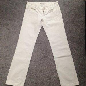 Weiße gerade Jeans in Gr. 27/32 normale Bundhöhe