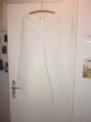 Gerry Weber Pantalone a vita alta bianco Cotone