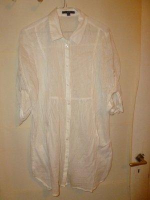 weiße, gestreifte Bluse
