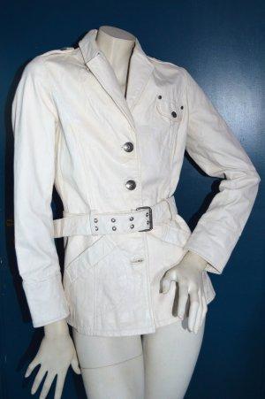 Weiße Gipsy Lederjacke