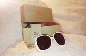 Weiße große Sonnenbrille von Burberry