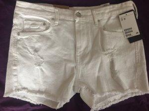 H&M Pantalon court blanc