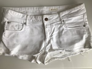 Weiße H&M Shorts aus Jeansstoff