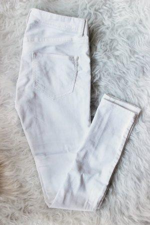 H&M Pantalon cigarette blanc