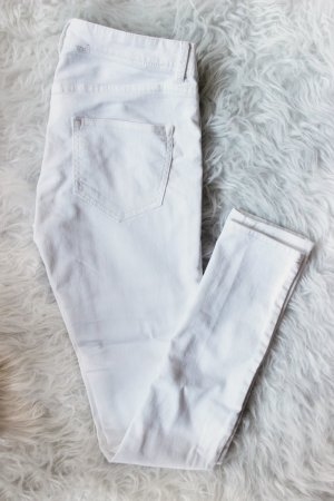H&M Pantalón de tubo blanco