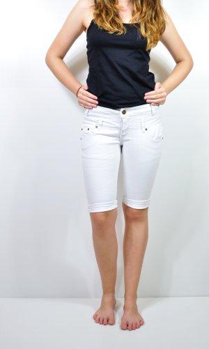 Weiße Halblange Hose Jeans