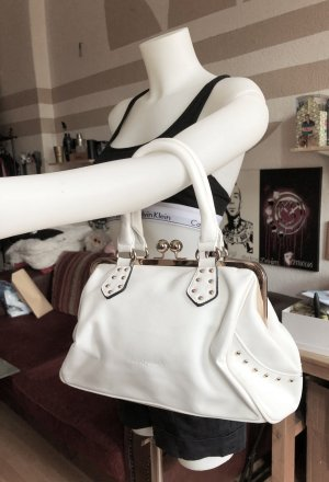 Weiße Handtasche mit Nieten David Jones