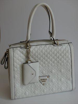 Guess Handbag white leather