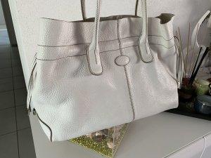 Weisse Handtasche von Tod's D bag MM
