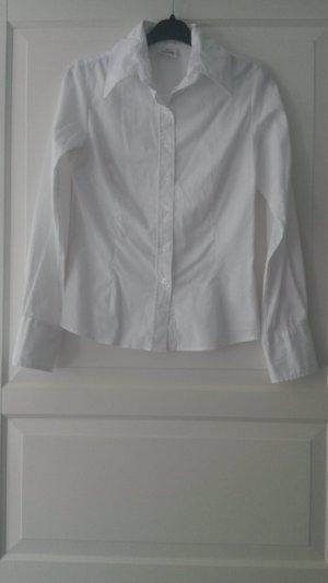 weiße Hemdbluse, Größe 34/36