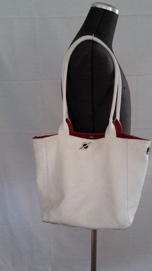 Carry Bag red-white leather